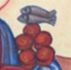 Detail from icon of Mark 6:30-44 by Sr Esther of Turvey Abbey.