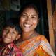 Good neighbours - Sompan with her son, Badon in Bangladesh.