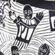 Detail of a hunger cloth by Azariah Mbatha
